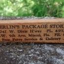 Vintage Miami Merlin's Package/Liquor Stores Advertising Fork 1950s  Maple Wood