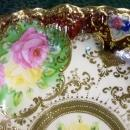 Antique Royal Kinran Nippon Bowl Roses & Gold 11.5