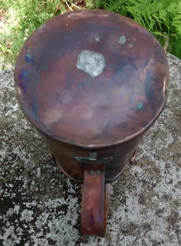 Antique Primitive Copper Measure/Pitcher 1800s 6.5