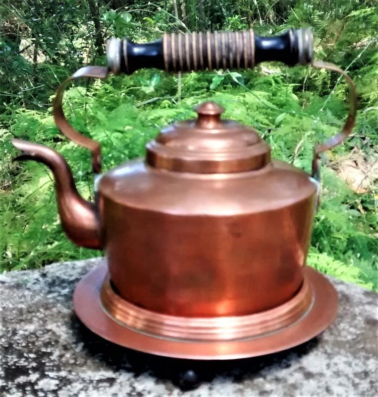 Copper Kettle w/Stand Skultana Sweden #1611 Mid-Century