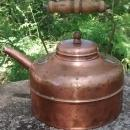 Antique Copper Kettle Vented Lid England Early 1900s