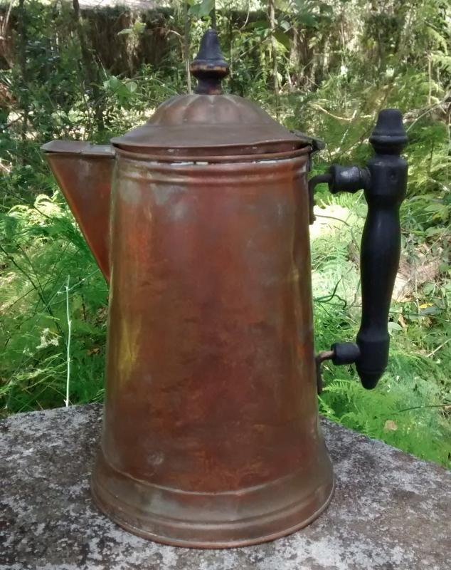 Antique Copper Coffee Pot Revere Ware Early 1900s As Is