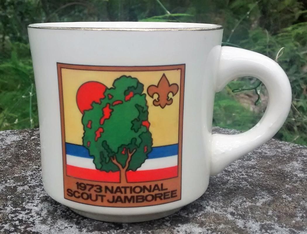Vintage Boy Scout Mug 1973 National Jamboree USA
