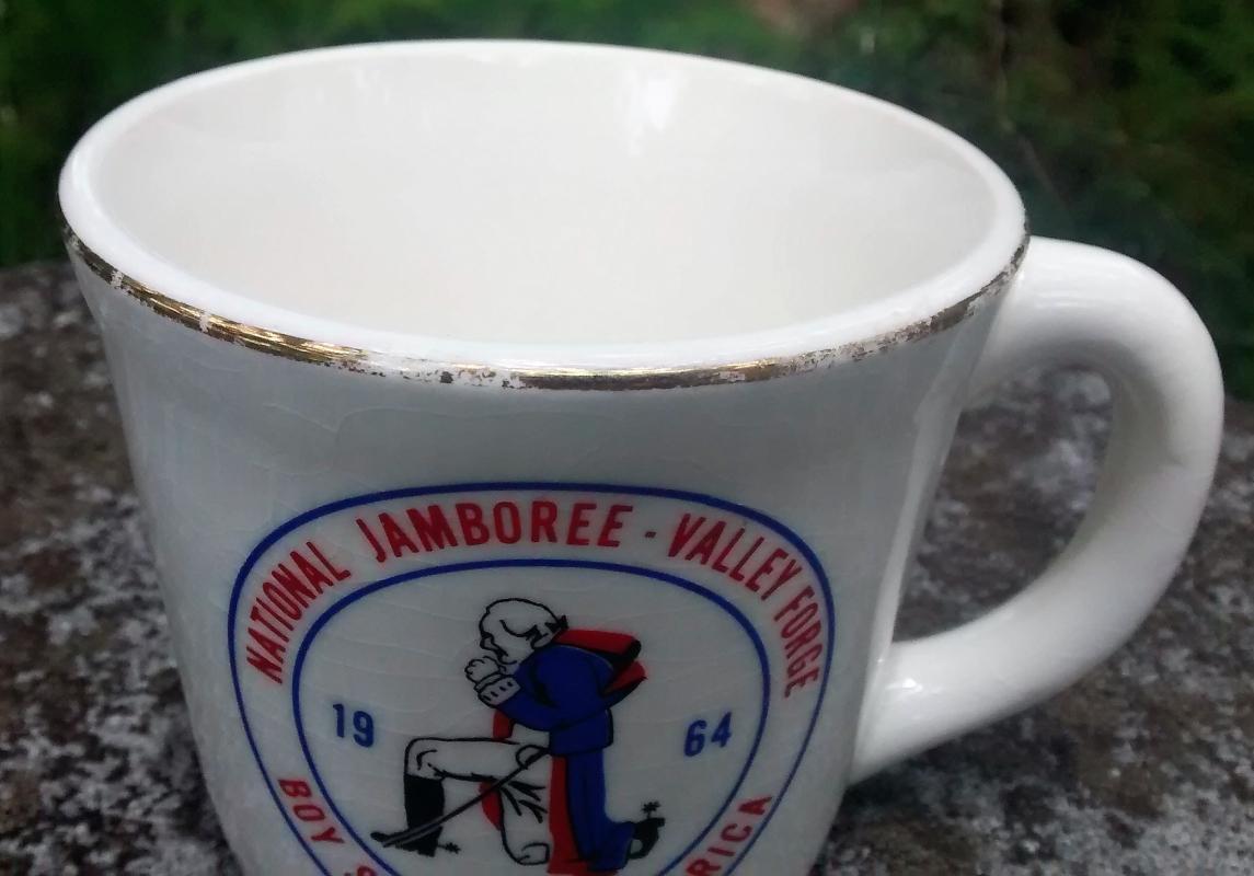 Vintage Boy Scout Mug 1964 National Jamboree Valley Forge PA