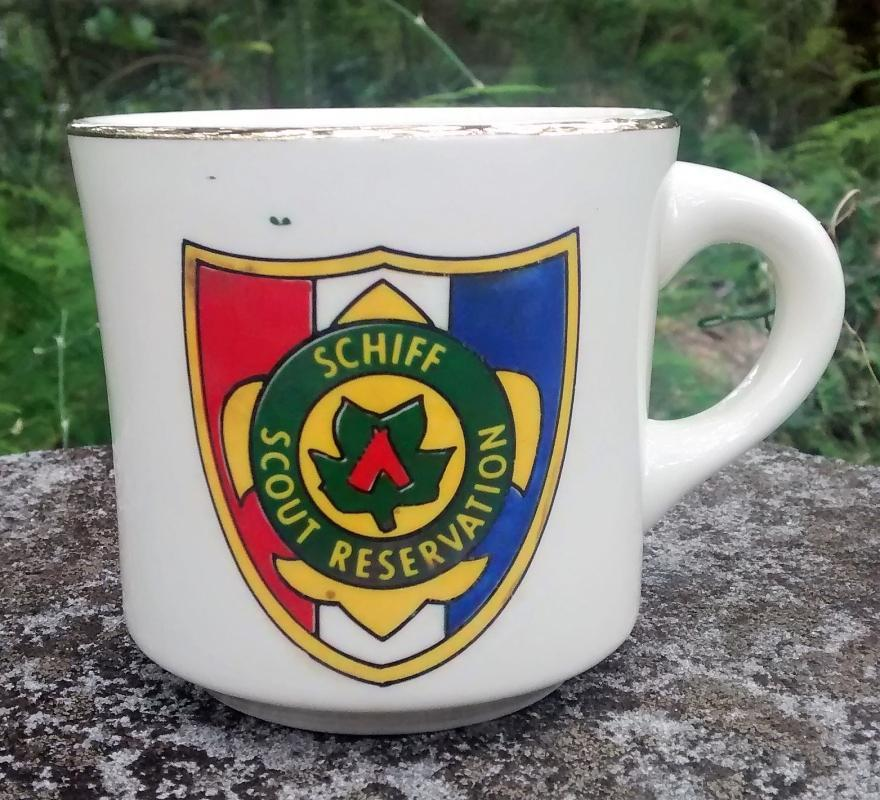 Vintage Boy Scout Mug Schiff Scout Reservation 1970s