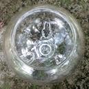 Vintage Viking Flora-Lite Flower Bowl #1007 Clear Glass 1950s-70s