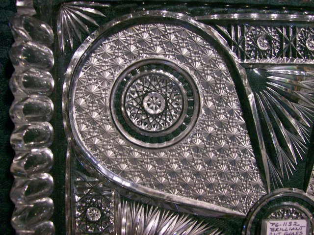 Antique Brilliant Cut Crystal Tray 11