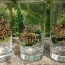 Vintage Wilbur Kurtz Atlanta Architecture Glass Bar Tumbler Set/6 Historic Buildings