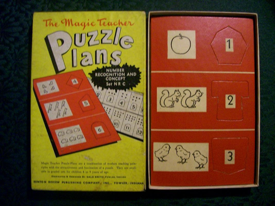 The Magic Teacher Puzzle Plans Set NRC 1950