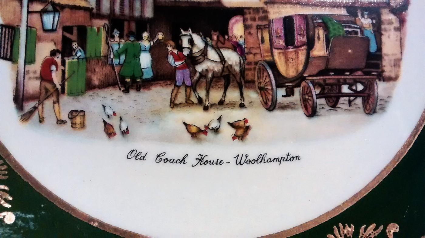 Vintage Weatherby Old Coach House Woolhampton Falcon Ware Plate  6.5