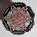 Vintage Duncan Button Arches Ruby-Flashed Souvenir Toothpick Holder Ohio State Fair 1934
