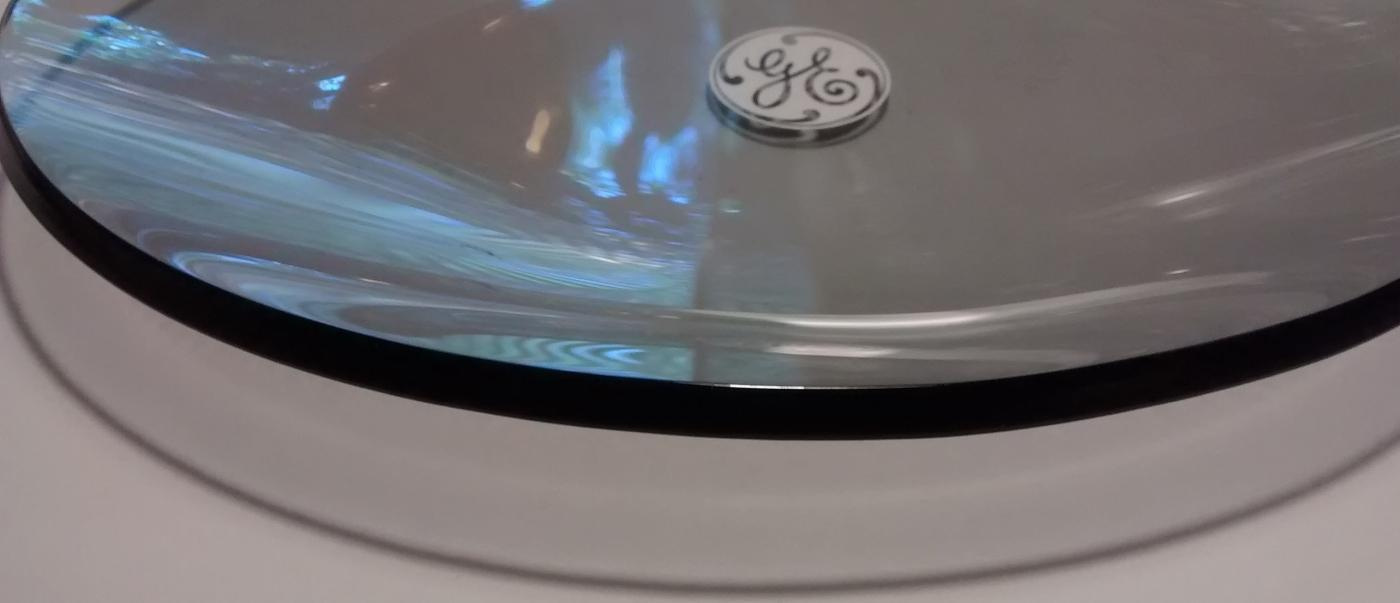 General Electric Bent Glass Advertising Tray 1960s-70s