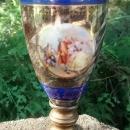 Vase lamp w/Romantic Decals 9.5