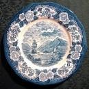 Royal Warwick Lochs of Scotland Plate Blue & White 9.75