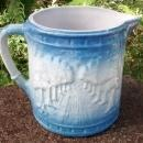 Brush McCoy Avenue of Trees/Woodland Stoneware Pitcher Blue & White