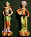 Vintage Occupied Japan Figurines Siamese/Thai Man & Woman Matched Pair 8.25