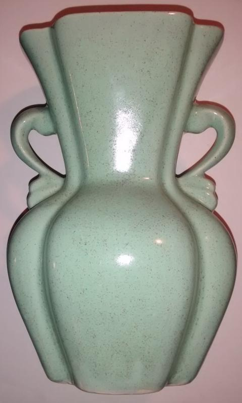 Brush Pottery Vase #504 Seafoam Green Ca. 1954 9