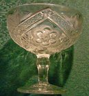 Indiana Rayed Flower/Splendor #161 Comport Clear Glass Ca. 1910