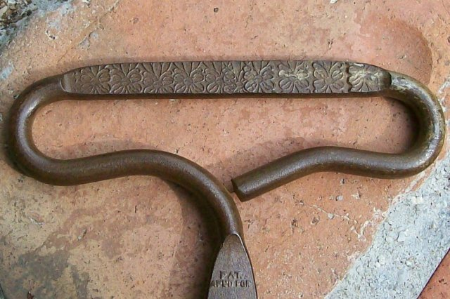 Household Ice Tongs: Stamped Steel