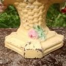 Vintage Cast Iron Bookend Albany or Hubley Flower Basket Ca. 1925 Original Paint