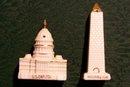 Vintage Washington Monument/Capitol Building S&P Shakers Japan