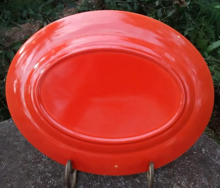 Homer Laughlin Harlequin Red Platter 11 3/8