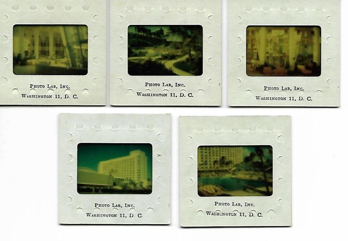 Americana Hotel Slides Bal Harbour Florida 1950s Set/5 Color Morris Lapidus