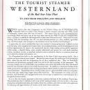 Red Star Line Westernland Steamship Deck Plan/Brochure 1936