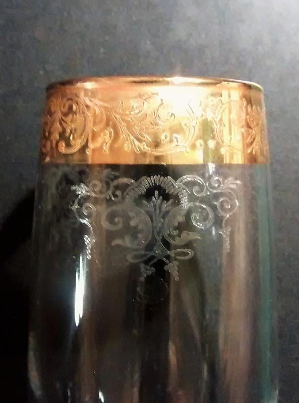 Cellini 24K Gold Encrusted Champagne Flute C9N1 7.75