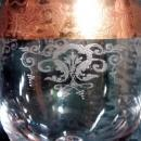 Cellini 24K Gold Encrusted Wine Glass C9N2 6 5/8