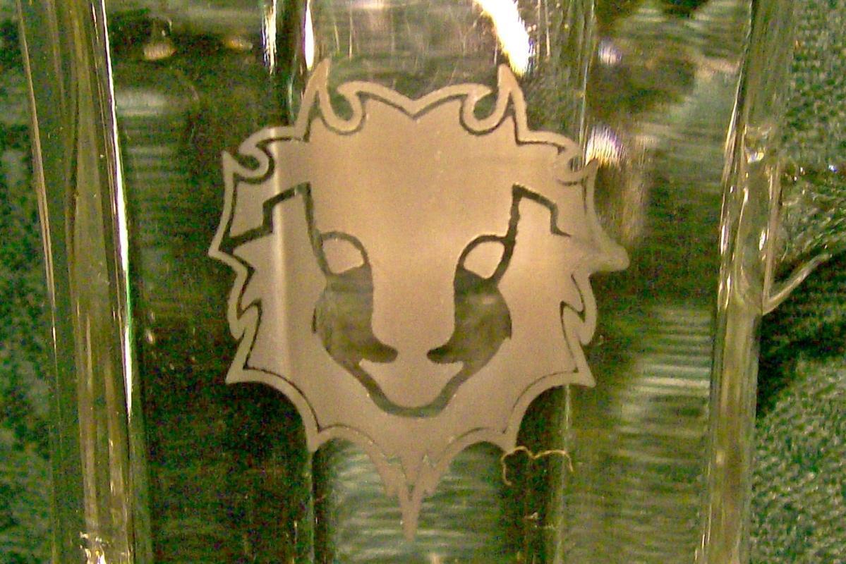 Vintage Red Lion Motor Inns Irish Coffee Mug Pair Restaurant Glass 1970s-80s