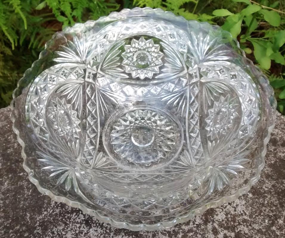 Antique Imperial Hobstar Flared Bowl 11