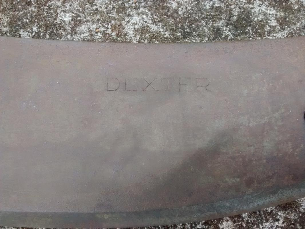 Antique Dexter Meat Cleaver Full Tang 9