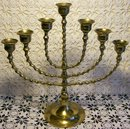 Brass 7-Light Candelabra Barley Twist 11