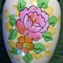 Japanese Hand-Painted Vase with Blue Luster 5.25