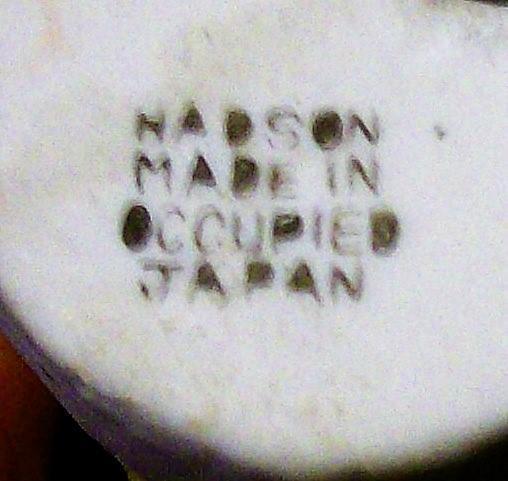 Vintage Occupied Japan Hadson Bisque Figurine Lady w/Lamb 6