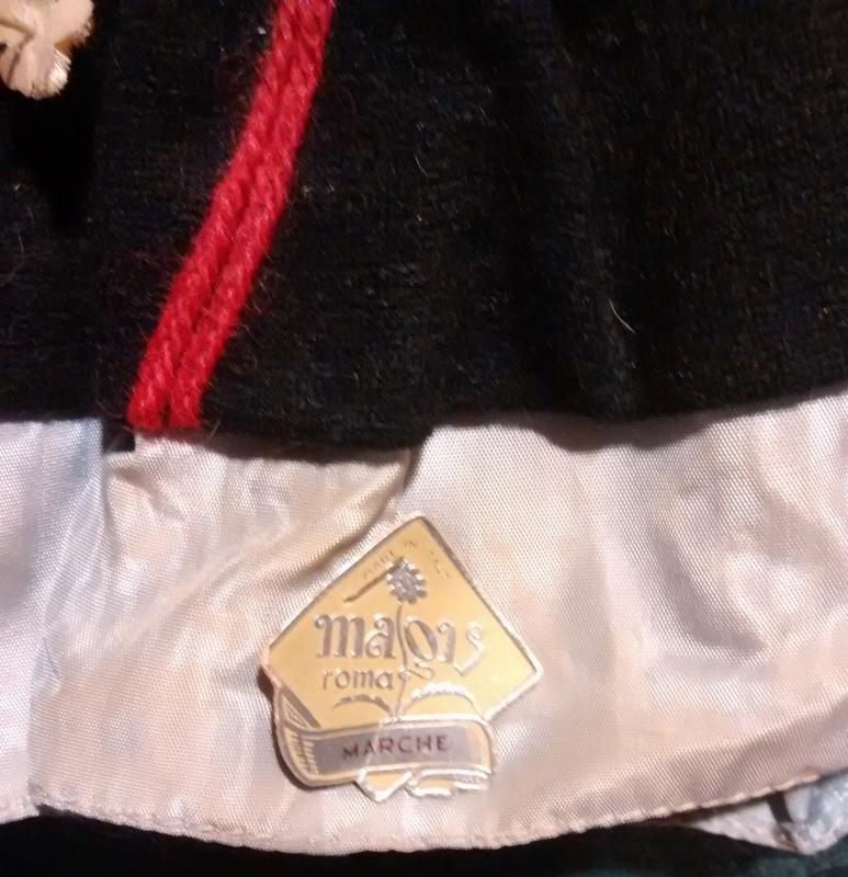 Magis Italy Souvenir Doll 1950s Ethnic Costume Marche 7.5