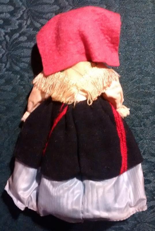 VintageMagis Italy Souvenir Doll 1950s Ethnic Costume Marche 7.5