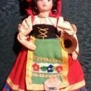 Vintage Magis Italy Souvenir Doll 1950s Ethnic Costume Roma 7.5