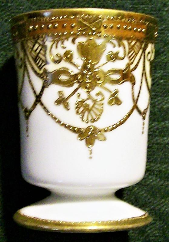 Antique Noritake Nippon Toothpick Holder Gold Encrusted