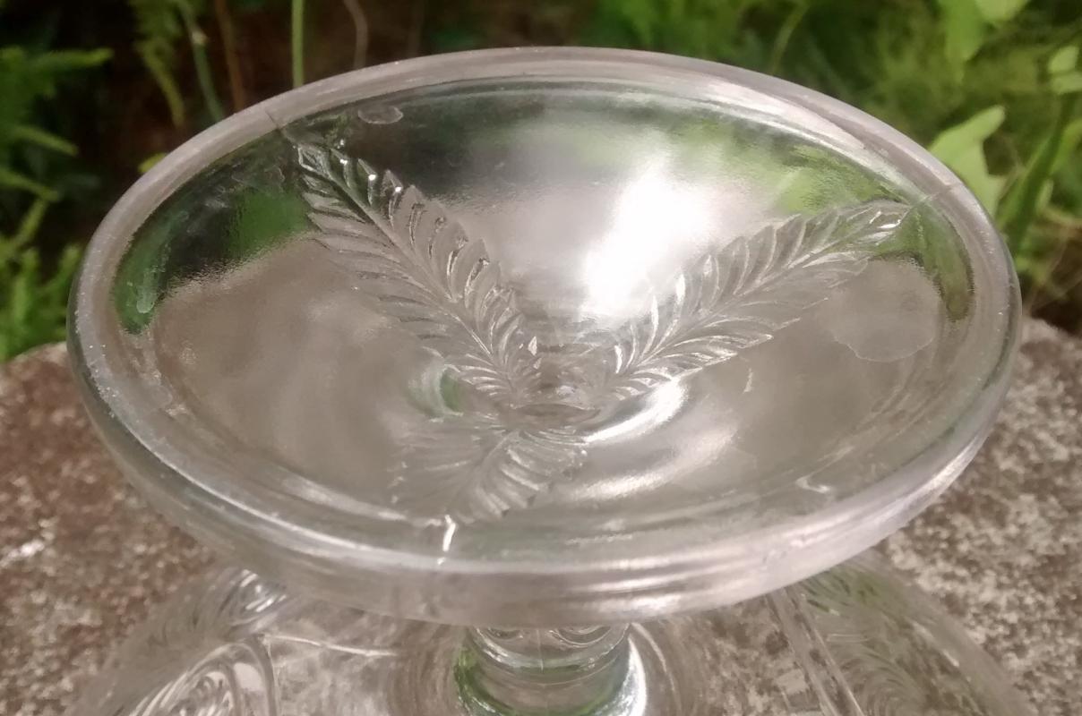 Antique EAPG Missouri/ Palm & Scroll Compote #15058 U.S. Glass 1899