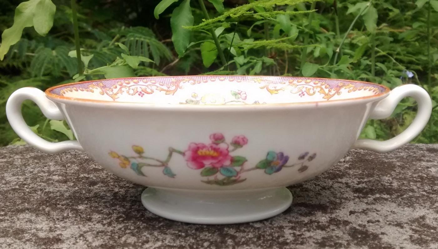 Vintage Spode/Copeland R9682 Cream Soup Bowl Chinese Pheasants 1940-56