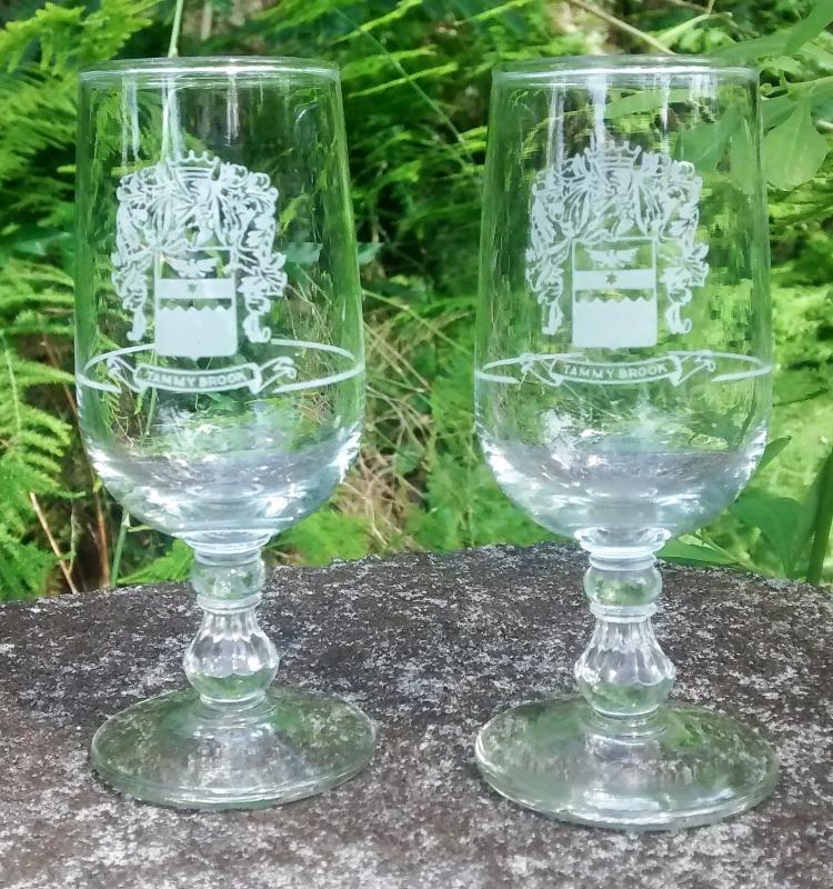 Vintage Tammy Brook Country Club Cordial Pair Cresskill New Jersey