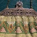 Vintage Whiting & Davis Mesh Purse Art Deco Geometric Signed