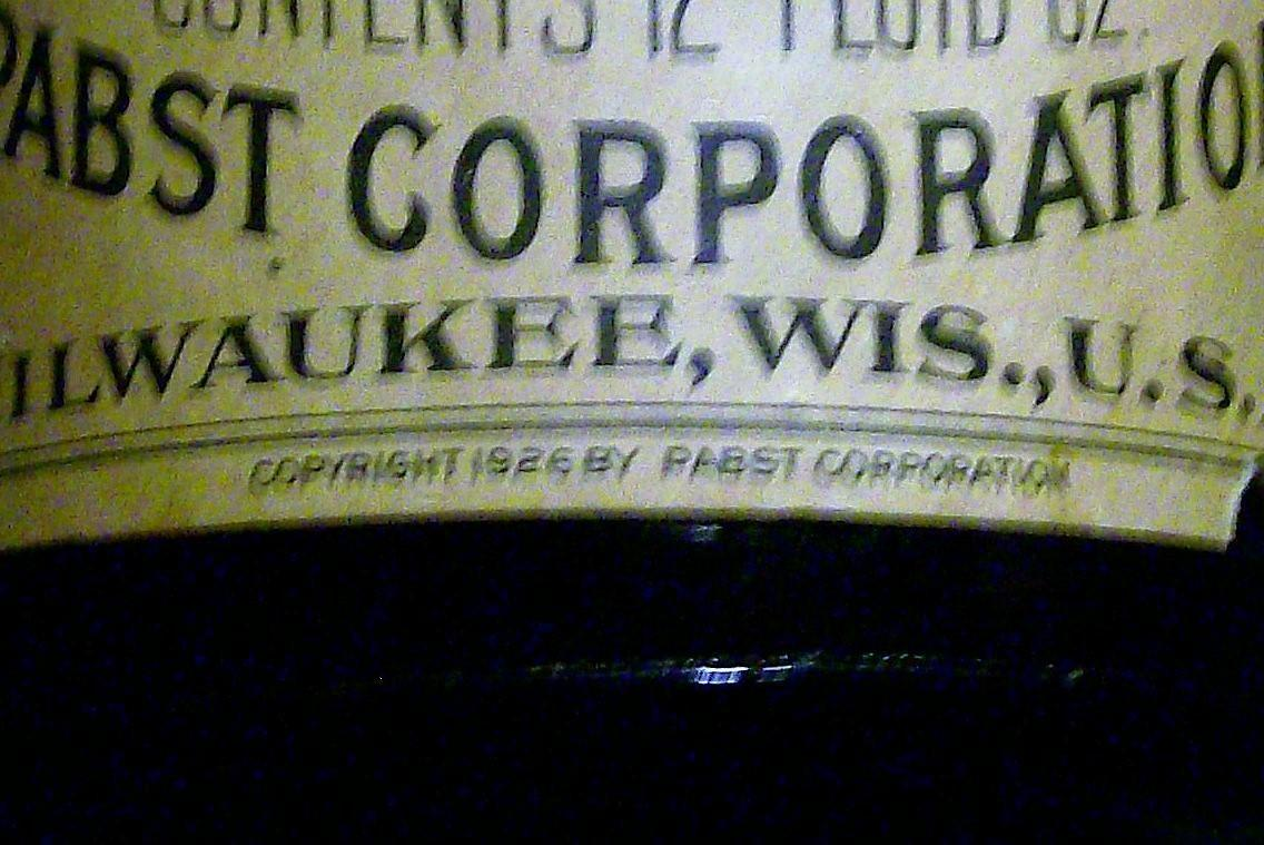 Vintage Prohibition Era Pabst Extract Bottle Full Contents