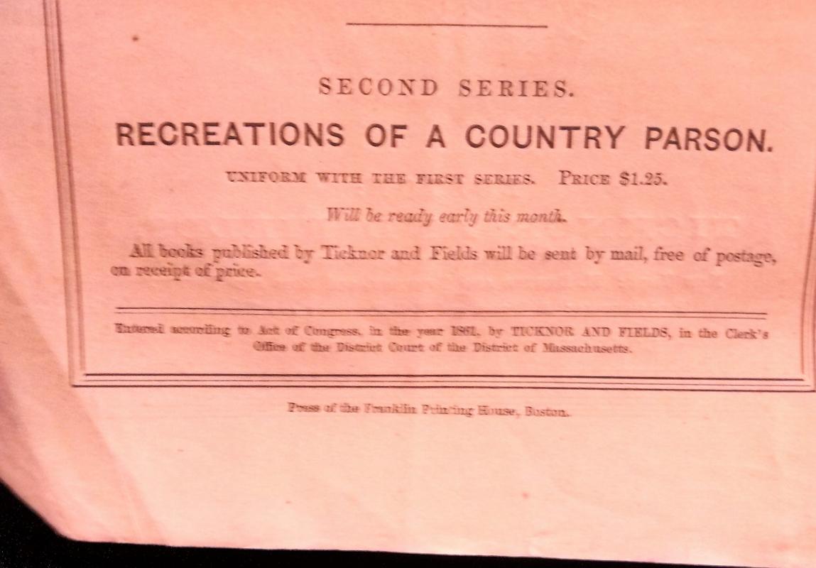 Antique Atlantic Monthly Magazine 1861 July Complete Civil War Era