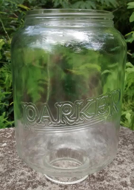 Antique Parker Coffee Grinder Glass Jar Only 1917