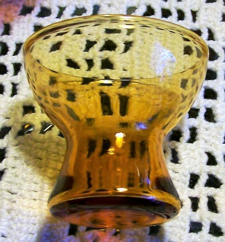 Vintage Cambridge Harlequin Decanter Cordial Set #3400 1941-43 Mocha/Amber Glass Ball