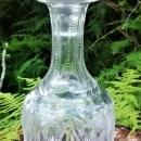 Antique Decanter Bottle Cut & Pressed Floral Clear Glass