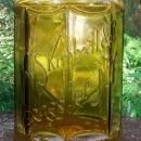 Antique Kimball Tobacco Jar/Humidor Amber Glass Ca. 1900